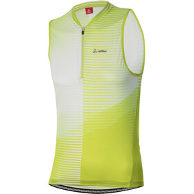 Löffler Aero Half-Zip Bike Tank Top Women, light green